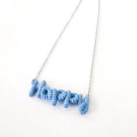 """Knitting Vanessa  """"Happy"""" ワードネックレス (sax)"""