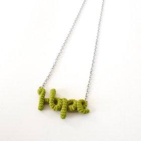"Knitting Vanessa  ""Hope"" ワードネックレス (lime green)"