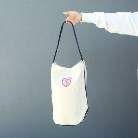 maindish  ONE SHOULDER BAG (natural × navy)