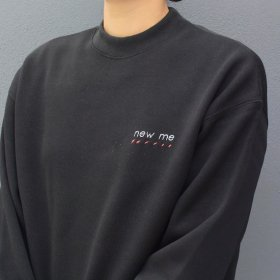 maindish  mock neck knit sweat  (black)