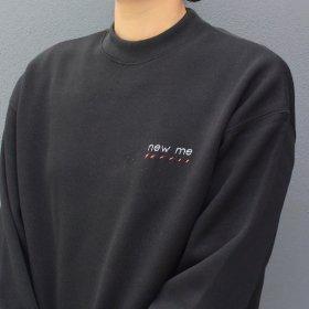 maindish  mock neck knit sweat  (black)