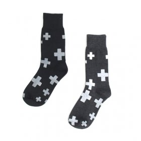 kunkun men's socksks モノトーン(cross)