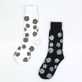 kunkun men's socksks モノトーン(flower)