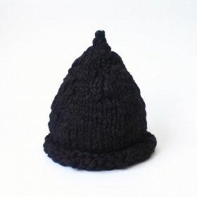 Head ööd ニット帽 マカロン / black