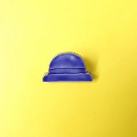 maitoparta きれいな帽子 ブローチ