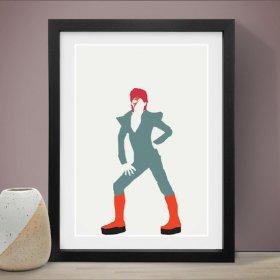 David Bowie デヴィッドボウイ A3 アートポスター