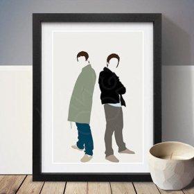 Liam Gallagher & Noel Gallagher リアムギャラガー & ノエルギャラガー A3 アートポスター