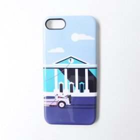 Back To The Future Art iPhoneケース  Movie Phone Case