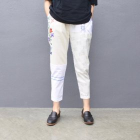 YEAH RIGHT !!  TABLE CLOTH TUCK PANTS / A
