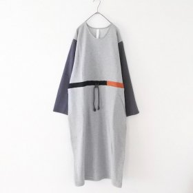 sneeuw パネルドローワンピース (grey)