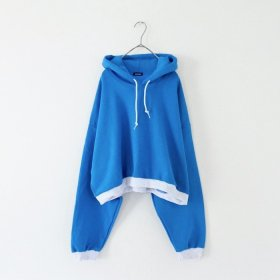 maindish  2TONE BIG PULL PARKA (BLUE)