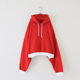 maindish  2TONE BIG PULL PARKA (RED)