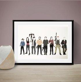 The Walking Dead Cast ウォーキング・デッド A3 アート ポスター