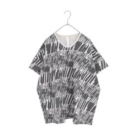 sneeuw マーカープリントTシャツ(charcoal)