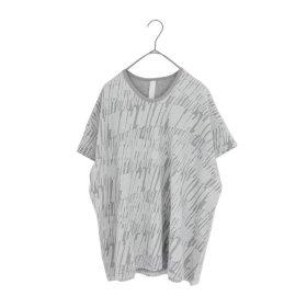 sneeuw マーカープリントTシャツ(grey)