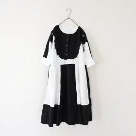 NATSUMI MATSUOKA リブワンピース / 白黒