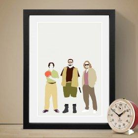 The Big Lebowski (Cast) ビックリボウスキ A3 アートポスター