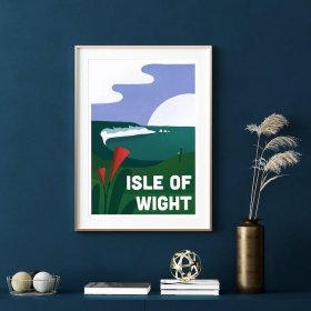 Anna Design The Isle of Wight A3 アート ポスター