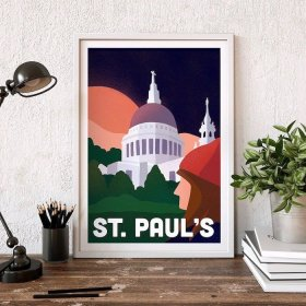 Anna Design St Paul's Cathedral A3 アート ポスター