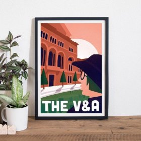 Anna Design The V&A A3 アート ポスター