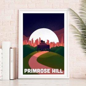 Anna Design Primrose Hill A3 アート ポスター