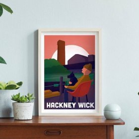 Anna Design Hackney Wick  A3 アート ポスター