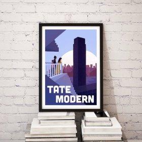 Anna Design Tate Modern A3 アート ポスター