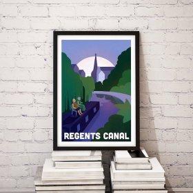 Anna Design Regents Canal A3 アート ポスター