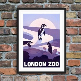 Anna Design London Zoo A3 アート ポスター