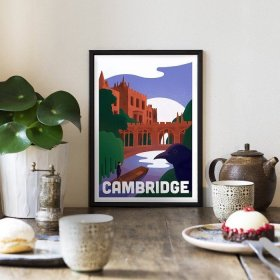 Anna Design Cambridge A3 アート ポスター