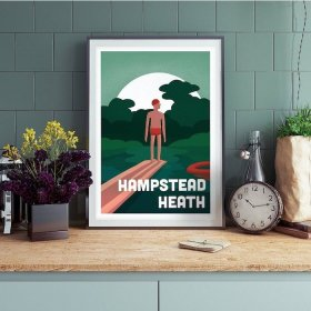 Anna Design Hampstead Heath A3 アート ポスター
