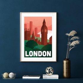 Anna Design London A3 アート ポスター
