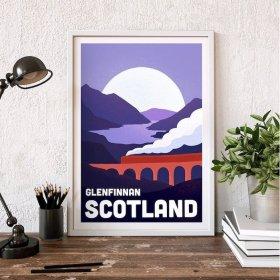 Anna Design Glenifinnan, Scotland A3 アート ポスター