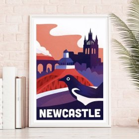 Anna Design Newcastle A3 アート ポスター