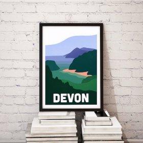 Anna Design Devon A3 アート ポスター