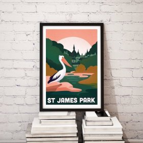 Anna Design St James Park A3 アート ポスター