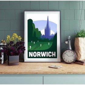 Anna Design Norwich A3 アート ポスター