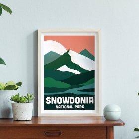 Anna Design Snowdonia A3 アート ポスター