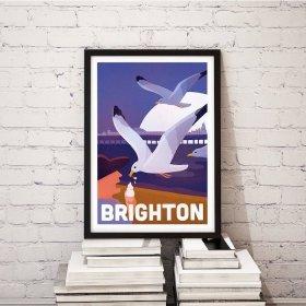 Anna Design Brighton A3 アート ポスター