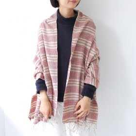 【GAIJIN MADE】BORDER SHAWL(3colors)<img class='new_mark_img2' src='//img.shop-pro.jp/img/new/icons16.gif' style='border:none;display:inline;margin:0px;padding:0px;width:auto;' />