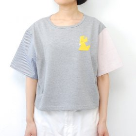 【cikolata】天竺キツネ Tシャツ/杢グレー<img class='new_mark_img2' src='//img.shop-pro.jp/img/new/icons16.gif' style='border:none;display:inline;margin:0px;padding:0px;width:auto;' />