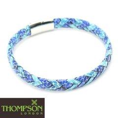 【Thompson London】イタリアンレザー・ターコーズ×コバルトブルーのブレスレット(ブレスレット)
