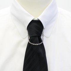 チェーン付・ミディアムチェーン・ピンホールシャツ用カラーバー・カラーピン