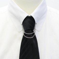 チェーン付・二連アズキチェーン・ピンホールシャツ用カラーバー・カラーピン