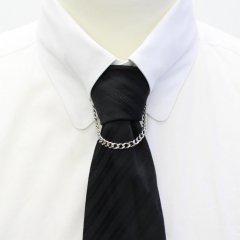 チェーン付・シンプルチェーン・ピンホールシャツ用カラーバー・カラーピン