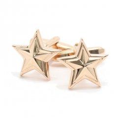 艶やかピンクゴールド×星型・スターのカフス(カフリンクス/カフスボタン)