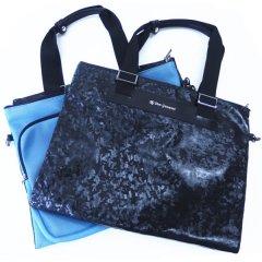 【DonGiovanniドン・ジョバンニ】二つ折りソフトタイプ・ビジネス・トラベル・バッグ・ブラック×ブルー