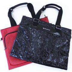 【DonGiovanniドン・ジョバンニ】二つ折りソフトタイプ・ビジネス・トラベル・バッグ・ブラック×レッド