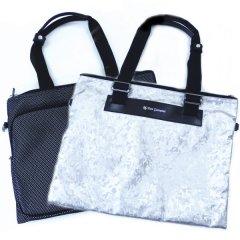 【DonGiovanniドン・ジョバンニ】二つ折りソフトタイプ・ビジネス・トラベル・バッグ・ホワイト×グレー