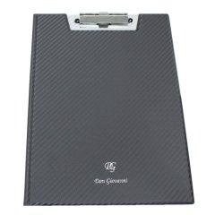 【DonGiovanniドン・ジョバンニ】カーボンファイバー綾織柄・A4サイズ二つ折りバインダー(書類挟み)